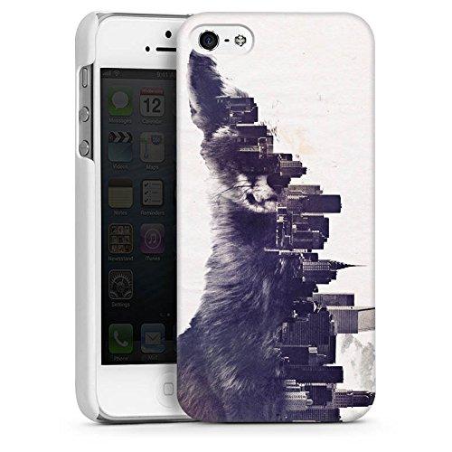 Apple iPhone 4 Housse Étui Silicone Coque Protection Renard Urban Ville CasDur blanc