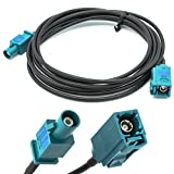 Adapter-Universe Auto Antennen 2 m Verlängerung Kabel FAKRA Buchse auf FAKRA Stecker Z RG174 KFZ Adapter für Universal