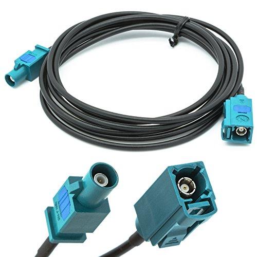 Auto Meter Für Antenne Ein 2 (Adapter-Universe Auto Antennen 2 m Verlängerung Kabel FAKRA Buchse auf FAKRA Stecker Z RG174 KFZ Adapter für Universal)