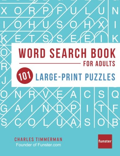 Funster Word Search Book for Adults: 101 Large-Print Puzzles por Charles Timmerman