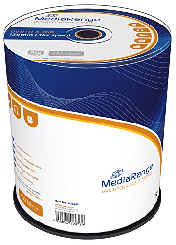 MediaRange MR443 DVD+R 16x 100 uds