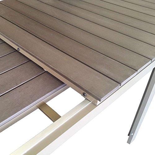 Exklusive Gartenmobel Gunstig : Gartentisch ausziehbar Aluminium Tisch mit Polywood Tischplatte 200
