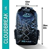 FE Active – 30L Wasserdichte Dry Bag Rucksack geeignet für alle Outdoor Aktivitäten und sonstige Unternehmungen am Wasser. Gepolsterte Schultergurte, Außennetze Sorgen für eine größere Tragfähigkeit Vergleich