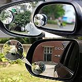 hallenwerk 2er Set Randlose Toter Winkel Spiegel Rückansicht Spiegel Weitwinkelspiegel Blindspiegel Weitwinkel Selbstklebend 360 Grad verstellbar für PKW LKW Wohnmobil und Transporter