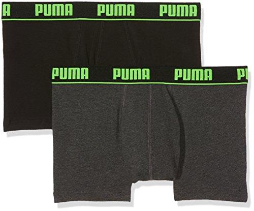 Puma Herren Basic Trunk New Waistband 2p Unterhose black/grey