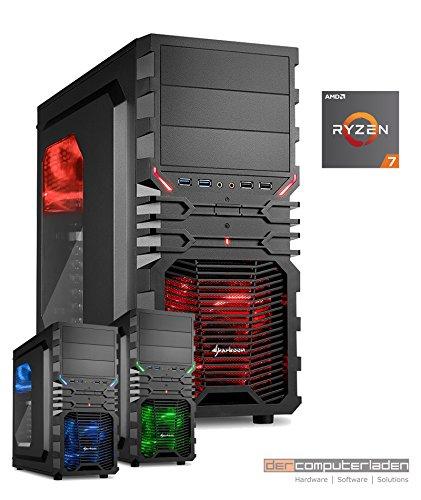 Gamer Aufrüst PC System AMD, 7-1800X (Ryzen) 8x3,6 GHz, 32GB RAM (Grafikkarte notwendig), dercomputerladen