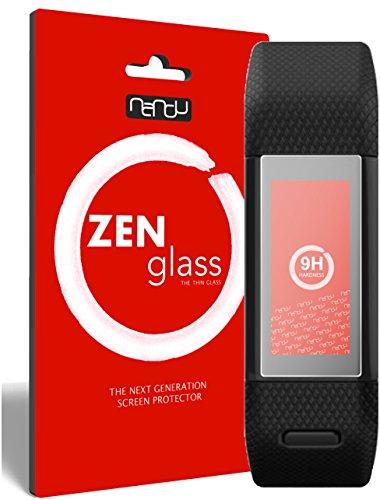 nandu I ZenGlass Flexible Glas-Folie für Garmin vivosmart HR+ Panzerfolie I Bildschirm-Schutzfolie 9H I (Kleiner Als Das Gewölbte Bildschirm)
