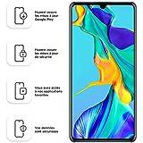 Huawei P30 Smartphone débloqué 4G (6,1 pouces - 6/128Go - Double Nano SIM - Android 9.1) Blanc nacré [Offre avec bon d'achat]