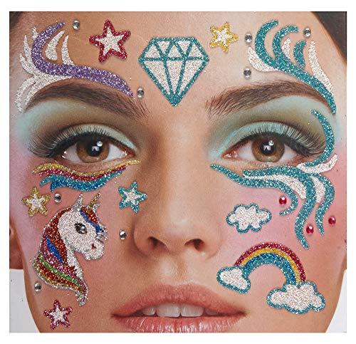 Andrea Moden Glitzer Gesichts-Tattoo Set Klebetattoos -