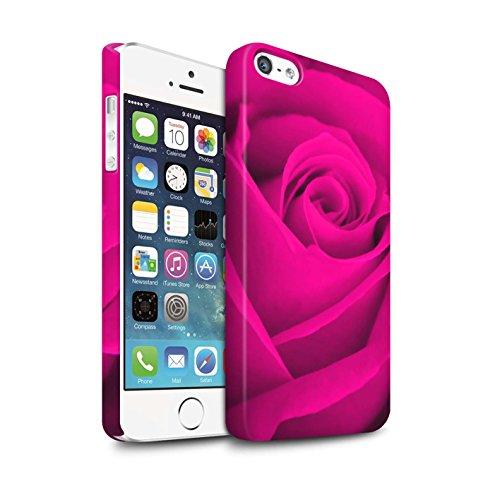 STUFF4 Matte Snap-On Hülle / Case für Apple iPhone 7 Plus / Orange Muster / Rose Kollektion Rosa