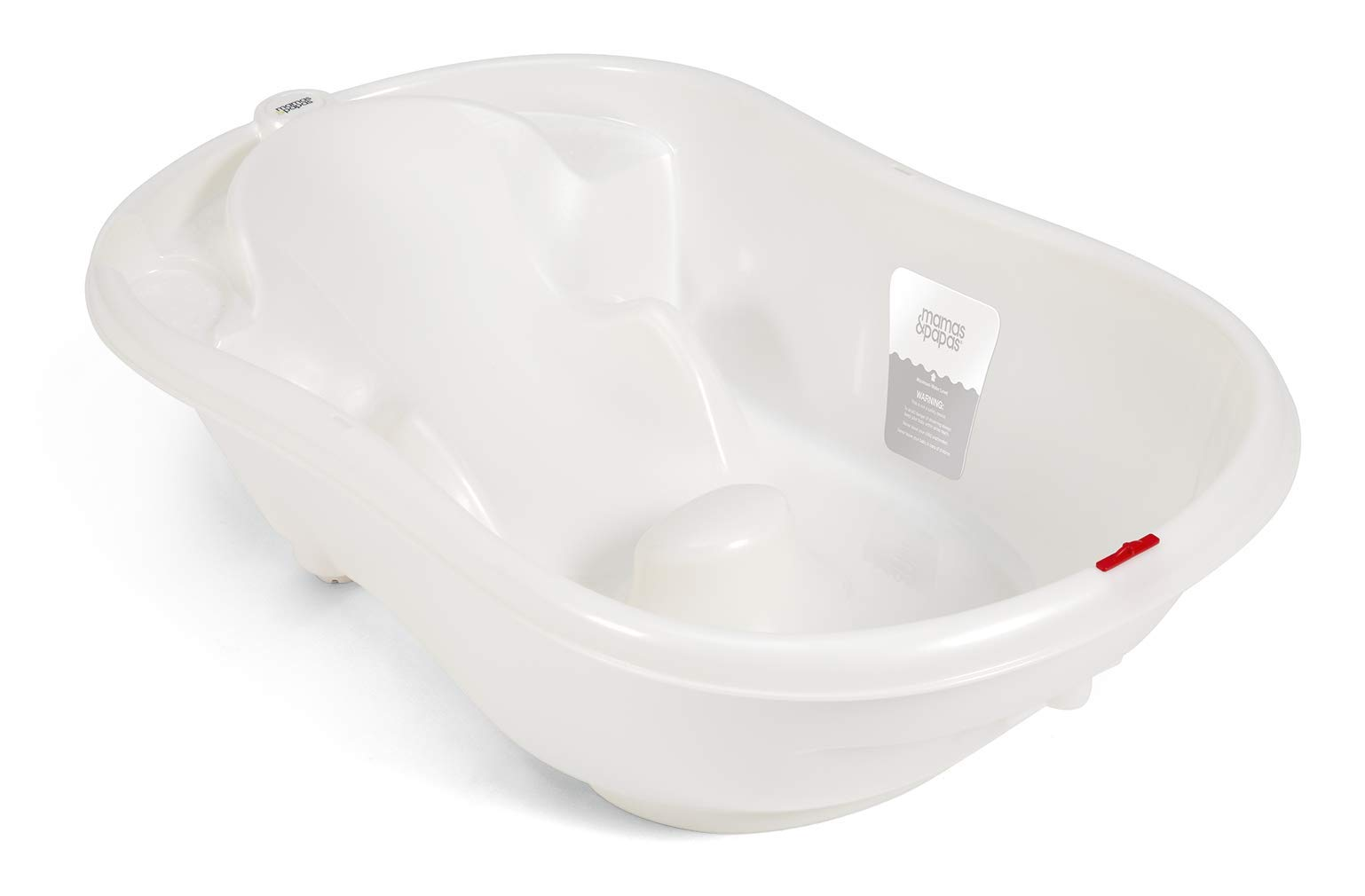 Mamas & Papas Acqua Bambino Two Stage Bath with Safety Support Positions for Newborn Baby to 12 Months - Pearl White 1