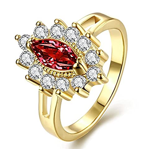 Thumby K Gold Bracelet Fashion Generous Oval Ruby ??Ring for