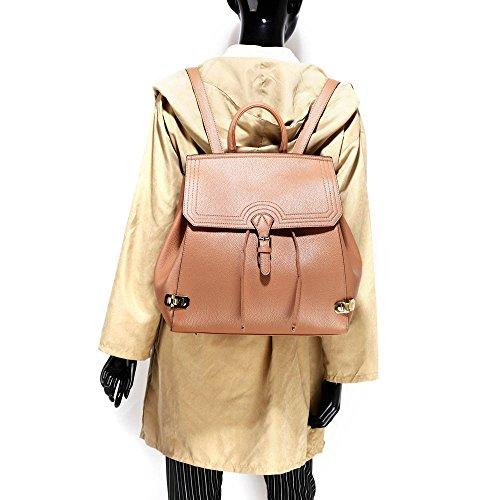 Damen Stilvoll Designer Zurück zurück Mit Vorderseite Schnalle Schließung Stecken Auf Das Boden Von Das Tasche Und Viel Von Platz innen Das Tasche Mit Reißverschluss Und Öffnen Taschen Nackt
