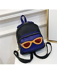 103e21195f1cc Frauen Mini PU Leder Rucksack Cartoon Niedlichen Brille Dekoration College  Wind Tasche Handtasche Schultertasche Zweifarbig