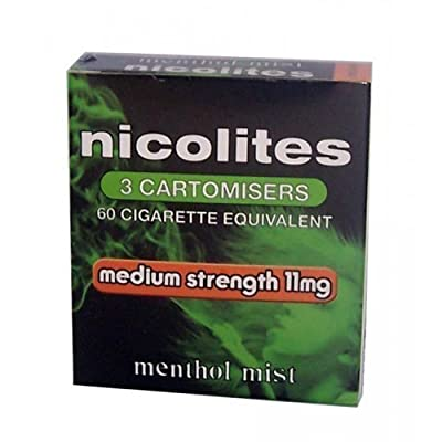 Nicolites 11mg Electronic Cigarette Cartomisers - Menthol Mist - 3 Cartomisers by International House