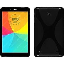 Funda de silicona para LG G Pad 8.0 - X-Style negro - Cover PhoneNatic Cubierta Case