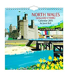 High Quality 2015 North Wales By Janet Bell Month Per Page Ringbound Wall Calendar - 12 Images
