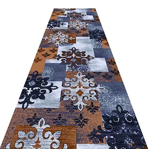 4x6 Bereich Teppich Matte (YXNN Korridor Teppich - Retro Gedruckt Konferenzraum Mall Treppe Gang Matte Wohnzimmer Dekoration Hochzeit Teppich Läufer - Angepasst (W0.6/0.8 / 1m) (Farbe : A, größe : 0.6x2m))