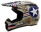 O'Neal 5Series MX Motorrad Helm Wingman Moto Cross Enduro Quad Polycarbonat Motorrad, 0618W-0, Größe Large (59 - 60 cm)