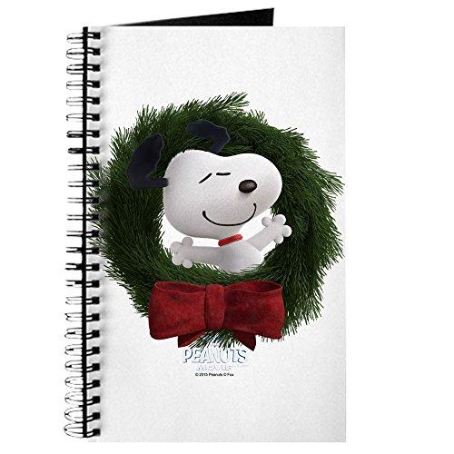 CafePress-Snoopy-Weihnachten Kranz-Spiralbindung Journal Notebook, persönliches Tagebuch, Dot Grid