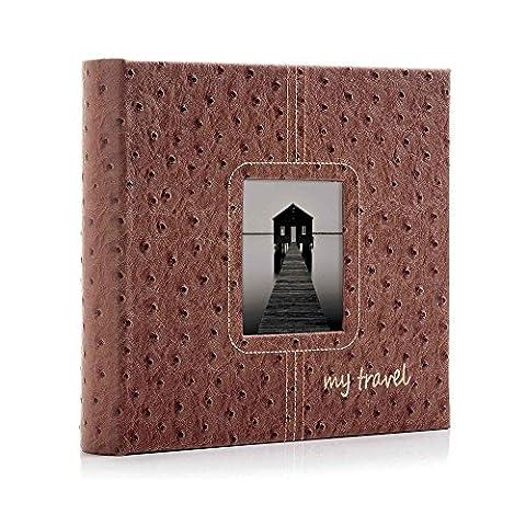 My Travel 6x4 Slip-in Photo Album Brown Sienna