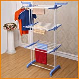 PARASNATH Stainless Steel 2 Poll Clothes Drying Stand- Blue