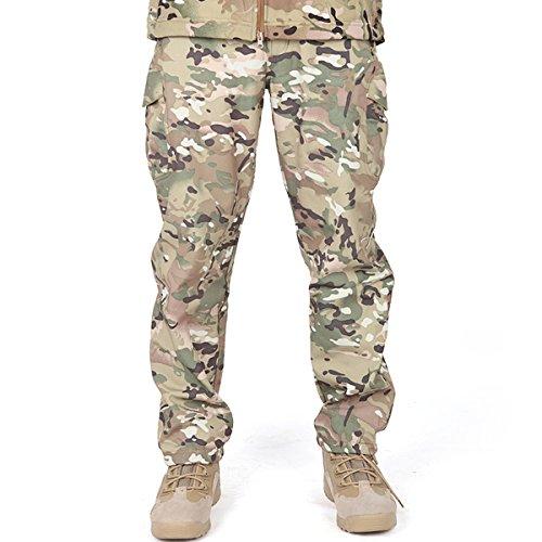 FREE SOLDIER Outdoor vollständig Herren Softshell Fleece gefüttert Walking Hose wasserdicht winddicht Warm Winter Hose(CP Camou M)