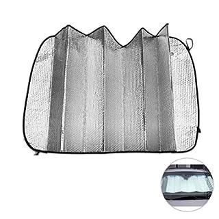WINOMO Auto Windschutzscheibe Sonnenschirme Auto Foldable Silvering Reflektierende Auto Sonnenschutz für Front Windschutzscheibe