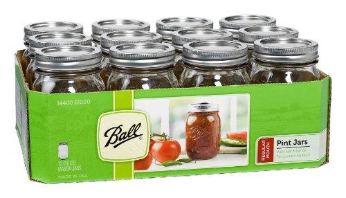 1pt Ball Mason Jars - Case of 12 by Ball Jar