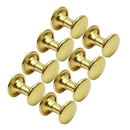 Des Mall Punk Rock 100 Pieces Gold Kupfer Rund flach Nieten DIY für Taschen Schuhe Kleidung - China Flache Schuhe