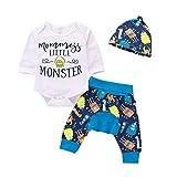 Anywow Säugling Unisex Baby Monster Body Einteiliges Neugeborenes Baby Strampler Overall Hosen Hut Kinder Spielanzug Set 3 stücke 0-18 Monate