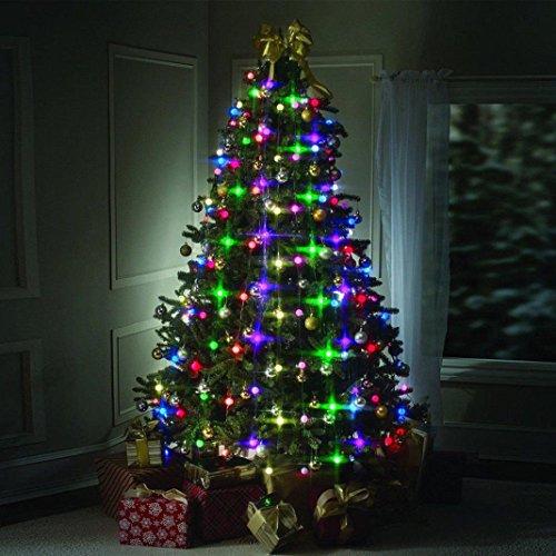 sisit Baum Weihnachten, 64Lichter Dekoration Anhänger Baum LED Mehrfarbig stapelbar Lichter, EU plug, 2G11 (Stapelbar Baum)