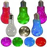 LS Design LED Deko Glühbirne Leuchte Tischlampe Hängelampe Mirco Lichterkette Weiss Transparent