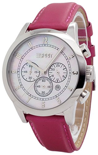 Esprit - ES000ER1009 - Rotunda - Montre Femme - Quartz Chronographe - Cadran Nacre - Bracelet Synthétique Violet