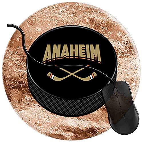 Gaming Mauspad Runde Anaheim Hockey Sport Fans Oberfläche verbessert Geschwindigkeit und Präzision rutschfest Mouse Pad 2T3950 Anaheim Computer