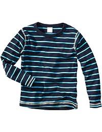 wellyou, Baby Langarm-Shirt blau-türkis gestreift, Kinder Longsleeve geringelt, für Jungen und Mädchen, Baumwoll-Feinripp, Größe 56-146