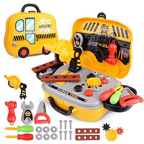 Dreamon Maletín de Herramientas de Juguete Tool Case para niños de 36 Meses