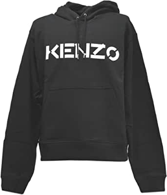 Kenzo Mens Chest Logo Hoodie S Black