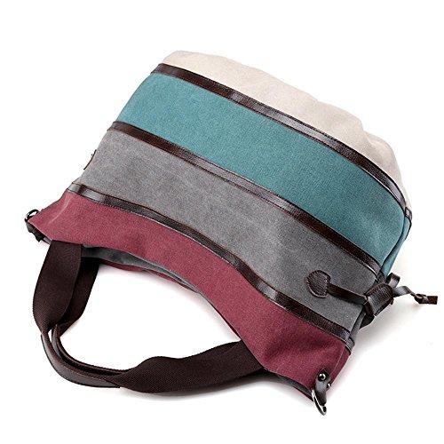 Sacchetto della tela di canapa Colore delle donne del sacchetto del pacchetto di modo Spalla Tempo libero Viaggio Leisure Travel Orange