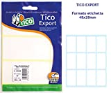 Tico E-4828 Export Etichetta da 48x28 mm, 120 Etichette