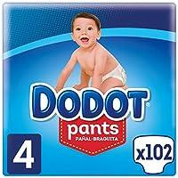Dodot Pants Pañal-Braguita Talla 4, 102 Pañales, Fácil De Cambiar Con Canales De Aire, 9-15kg
