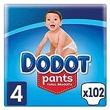 Dodot Pants Pañal-Braguita Talla 4, (9-15kg), 3 x 34 Pañales, Total 102 Pañales