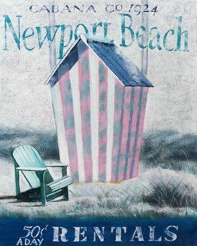 Buyartforless Robert Downs Newport Cabana Kunstdruck/Poster, 50,8 x 40,6 cm, Rhode Island Küstenstrand Cottage Vacation Summer Seaside -
