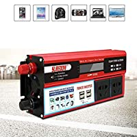 KANJJ-YU Transformer, Inverter 1000 W, Sine Wave Inverter, DC 12 V / 24 V To AC 110 V / 220 V Voltage Transformer With USB Port, Ultimate Car Traveling Device, 12Vto110V