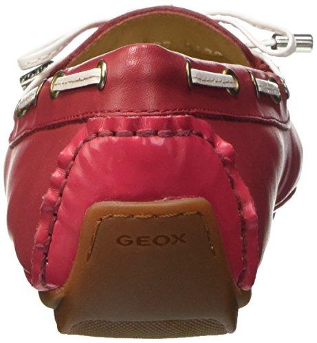 Geox D Clelia A, flâneurs femme Rosso (Coral/Blanc)