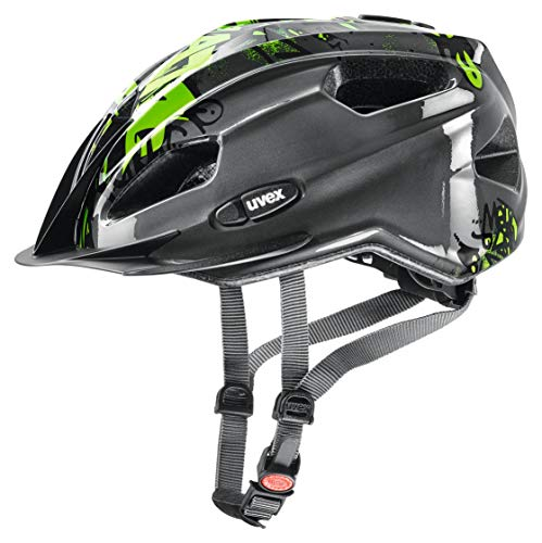 Uvex Kinder Quatro Junior Fahrradhelm, anthracite, 50-55 cm
