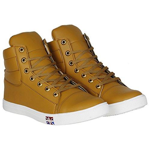 8007f4d8e29717 ... Kraasa Men s White Faux Leather Sneakers