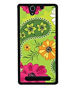 PrintVisa Designer Back Case Cover for Sony Xperia C3 Dual :: Sony Xperia C3 Dual D2502 (Decorative Effortless Silhouette Persian Paperback Repeating Beautiful Seamless)