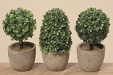Deko Kunststoff Pflanzen im Topf Höhe: ca.14cm Sie erhalten ein 3er Set