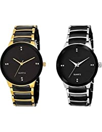 Style Eepers New Arrival Special Collection Black Bid Round Dial Black-Gold , Black-Silver Metal Belt Party Wedding...